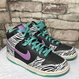 Nike Dunk Premium Liquid City Zebra Sky Shoe 8.5